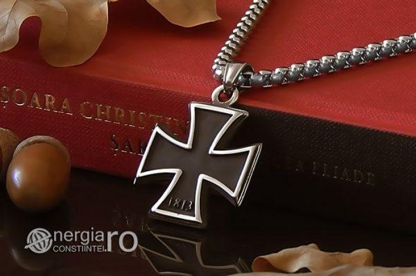 Pandant-Amuleta-Talisman-Medalion-Colier-Pandantiv-Crucea-Malteza-Crucea-de-Fier-INOX-PND072-03