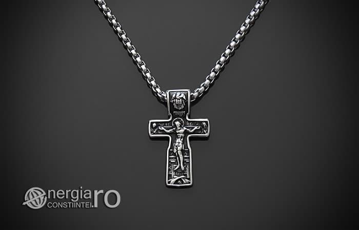 Pandant-Amuleta-Talisman-Medalion-Colier-Pandantiv-Cruciulita-Cruce-Crucifix-Iisus-INOX-PND185-01