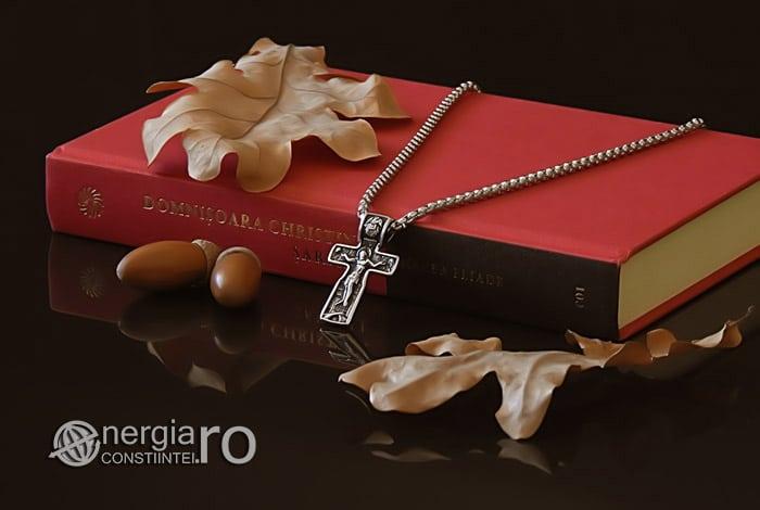 Pandant-Amuleta-Talisman-Medalion-Colier-Pandantiv-Cruciulita-Cruce-Crucifix-Iisus-INOX-PND185-03