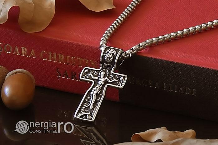 Pandant-Amuleta-Talisman-Medalion-Colier-Pandantiv-Cruciulita-Cruce-Crucifix-Iisus-INOX-PND185-04