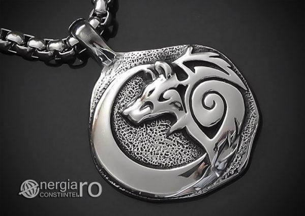 Pandant-Amuleta-Talisman-Medalion-Colier-Pandantiv-Lup-Dacic-INOX-PND171-00