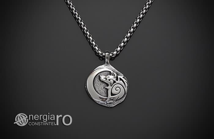 Pandant-Amuleta-Talisman-Medalion-Colier-Pandantiv-Lup-Dacic-INOX-PND171-01