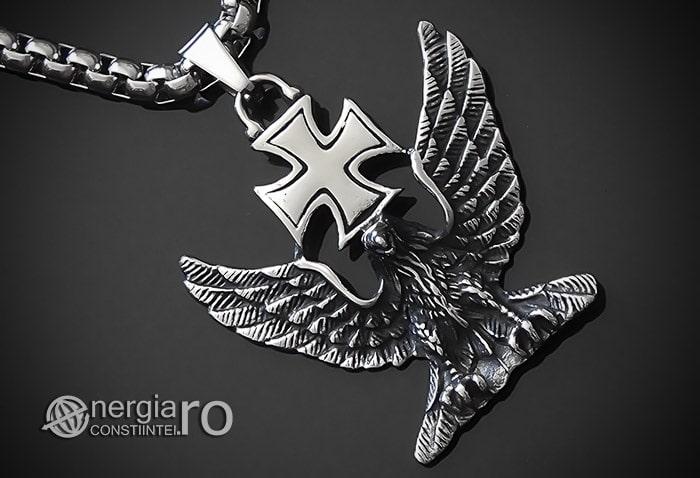Pandant-Amuleta-Talisman-Medalion-Colier-Pandantiv-Vultur-Crucea-Malteza-Crucea-De-Fier-PND180-00
