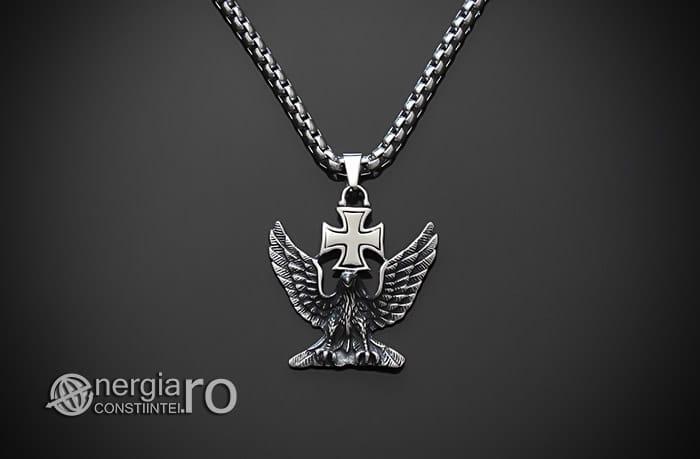 Pandant-Amuleta-Talisman-Medalion-Colier-Pandantiv-Vultur-Crucea-Malteza-Crucea-De-Fier-PND180-01