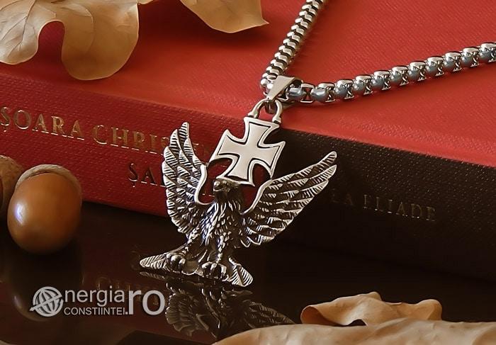 Pandant-Amuleta-Talisman-Medalion-Colier-Pandantiv-Vultur-Crucea-Malteza-Crucea-De-Fier-PND180-04