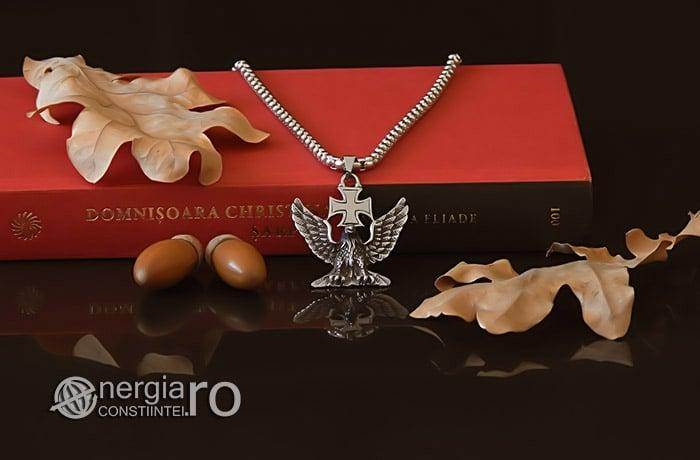 Pandant-Amuleta-Talisman-Medalion-Colier-Pandantiv-Vultur-Crucea-Malteza-Crucea-De-Fier-PND180-05