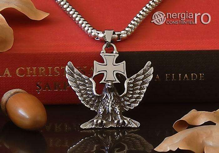 Pandant-Amuleta-Talisman-Medalion-Colier-Pandantiv-Vultur-Crucea-Malteza-Crucea-De-Fier-PND180-06