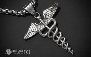 Pandant-Pandantiv-Amuleta-Talisman-Medalion-Colier-Caduceu-INOX-PND200-00