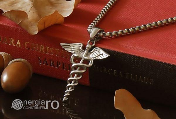 Pandant-Pandantiv-Amuleta-Talisman-Medalion-Colier-Caduceu-INOX-PND200-04
