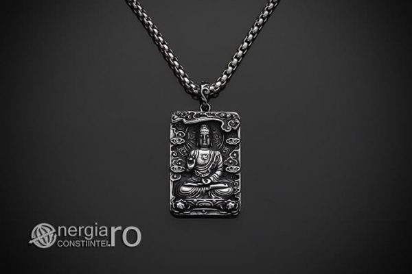 Pandant-Pandantiv-Amuleta-Talisman-Medalion-Colier-Tableta-Buddha-INOX-PND195-01