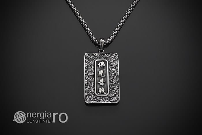 Pandant-Pandantiv-Amuleta-Talisman-Medalion-Colier-Tableta-Buddha-INOX-PND195-02