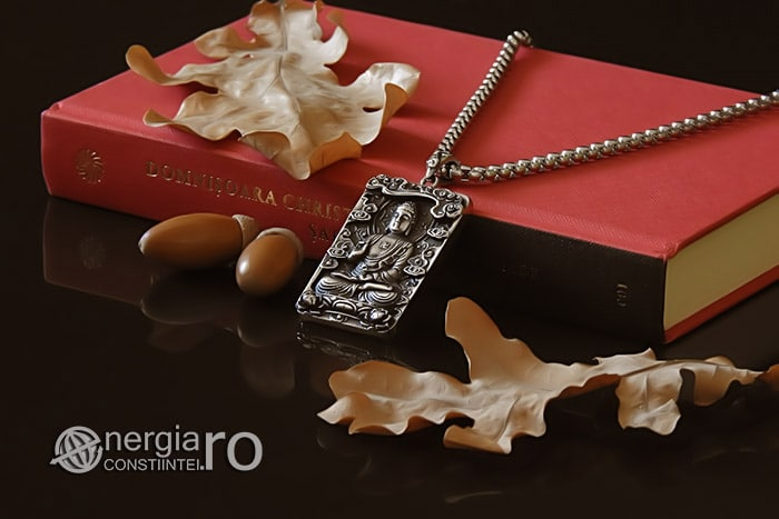 Pandant-Pandantiv-Amuleta-Talisman-Medalion-Colier-Tableta-Buddha-INOX-PND195-03