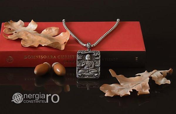 Pandant-Pandantiv-Amuleta-Talisman-Medalion-Colier-Tableta-Buddha-INOX-PND195-05