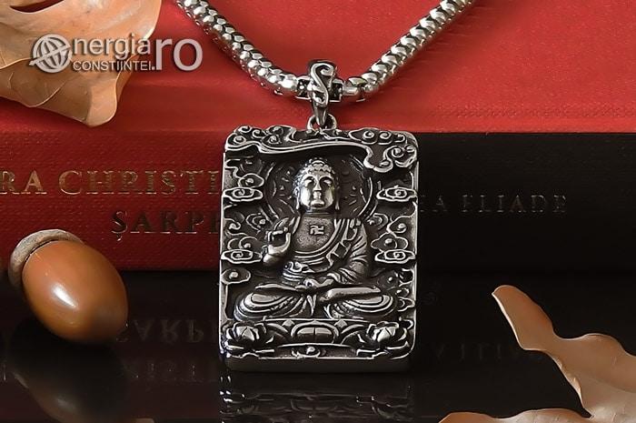 Pandant-Pandantiv-Amuleta-Talisman-Medalion-Colier-Tableta-Buddha-INOX-PND195-06