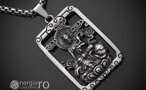 Pandant-Pandantiv-Amuleta-Talisman-Medalion-Colier-Tableta-Buddha-INOX-PND196-00