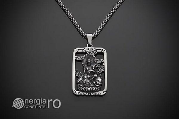 Pandant-Pandantiv-Amuleta-Talisman-Medalion-Colier-Tableta-Buddha-INOX-PND196-01