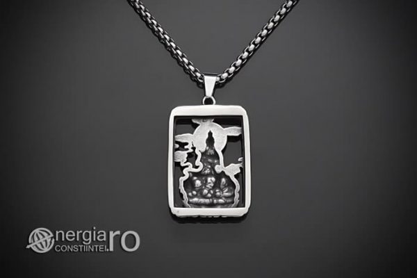 Pandant-Pandantiv-Amuleta-Talisman-Medalion-Colier-Tableta-Buddha-INOX-PND196-02