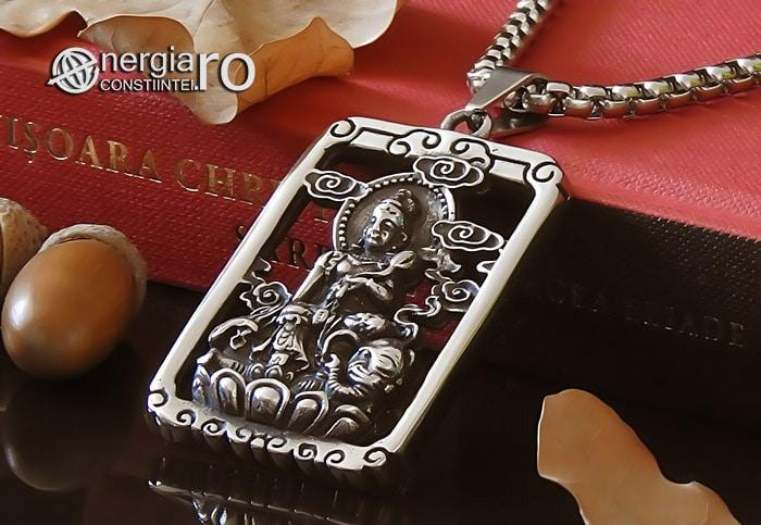 Pandant-Pandantiv-Amuleta-Talisman-Medalion-Colier-Tableta-Buddha-INOX-PND196-04