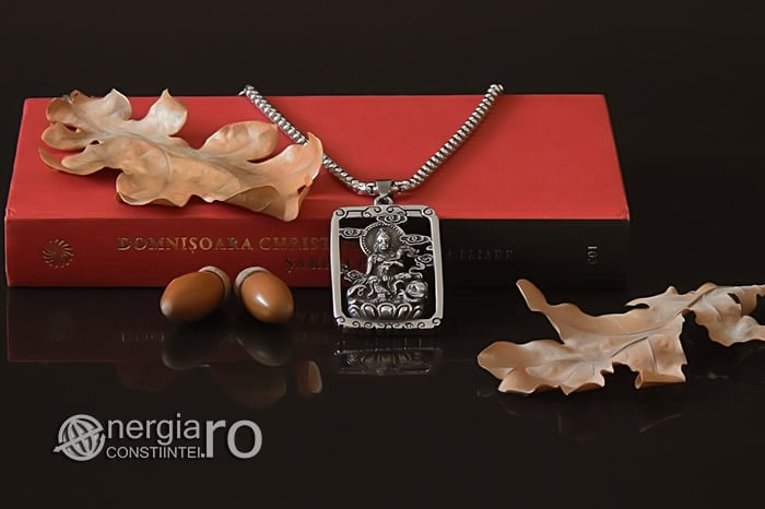 Pandant-Pandantiv-Amuleta-Talisman-Medalion-Colier-Tableta-Buddha-INOX-PND196-05
