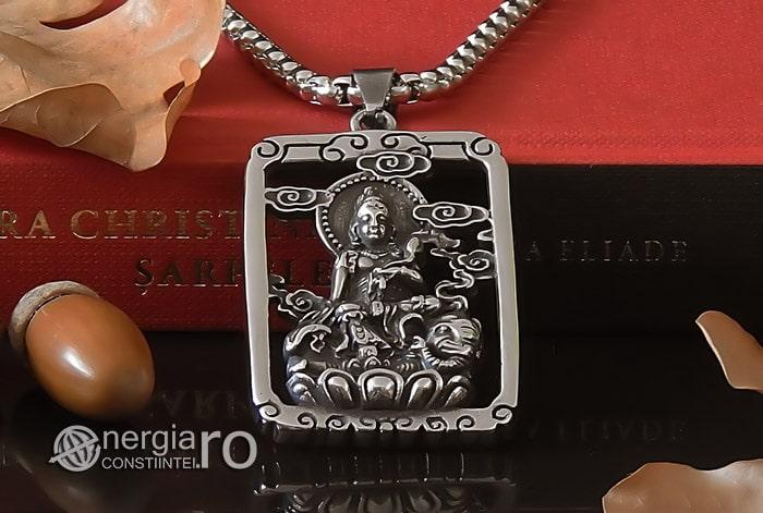 Pandant-Pandantiv-Amuleta-Talisman-Medalion-Colier-Tableta-Buddha-INOX-PND196-06