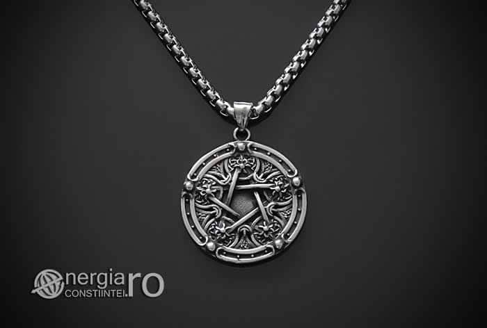 Amuleta-Pandantiv-Medalion-Talisman-Colier-Pandant-Pentagrama-Pentaclu-INOX-PND215-01