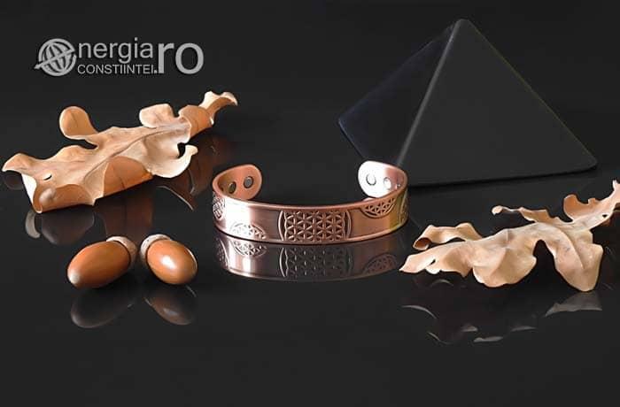 Bratara-Magnetica-Medicinala-Energetica-Terapeutica-CUPRU-Magneti-Neodim-Floarea-Vietii-BRA030-01