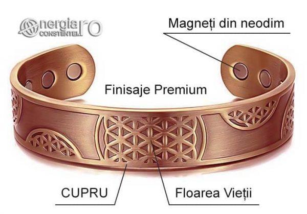 Bratara-Magnetica-Medicinala-Energetica-Terapeutica-CUPRU-Magneti-Neodim-Floarea-Vietii-BRA030-04