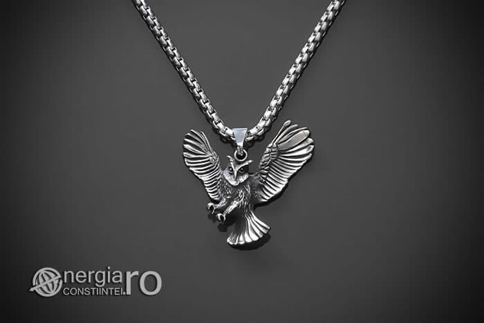 Amuleta-Talisman-Medalion-Colier-Pandant-Pandantiv-Bufnita-INOX-PND146-01