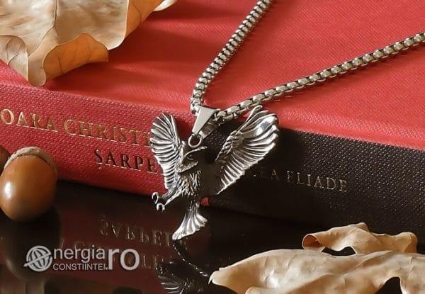 Amuleta-Talisman-Medalion-Colier-Pandant-Pandantiv-Bufnita-INOX-PND146-03