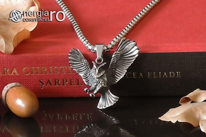 Amuleta-Talisman-Medalion-Colier-Pandant-Pandantiv-Bufnita-INOX-PND146-05