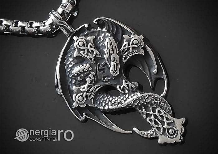 Amuleta-Talisman-Medalion-Colier-Pandant-Pandantiv-Cruce-Crucifix-Cruciulita-Sarpe-Dragon-Incolacit-INOX-PND220-00