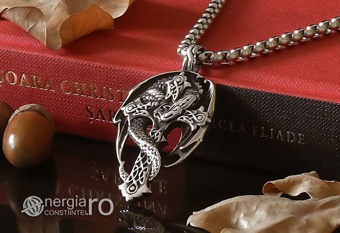 Amuleta-Talisman-Medalion-Colier-Pandant-Pandantiv-Cruce-Crucifix-Cruciulita-Sarpe-Dragon-Incolacit-INOX-PND220-04
