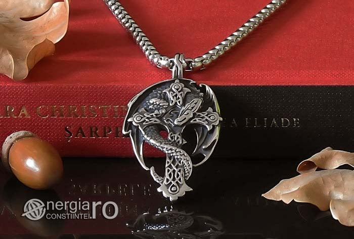 Amuleta-Talisman-Medalion-Colier-Pandant-Pandantiv-Cruce-Crucifix-Cruciulita-Sarpe-Dragon-Incolacit-INOX-PND220-06