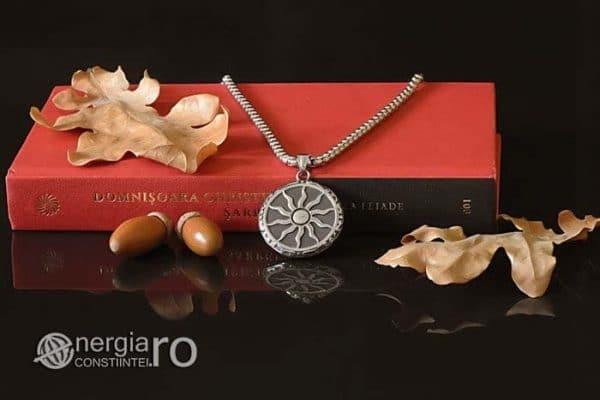 Amuleta-Talisman-Medalion-Colier-Pandant-Pandantiv-Soare-Simbol-Solar-INOX-PND176-04