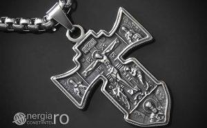 Pandant-Amuleta-Talisman-Medalion-Colier-Pandantiv-Cruciulita-Cruce-Crucifix-Iisus-INOX-PND186-00