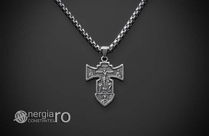 Pandant-Amuleta-Talisman-Medalion-Colier-Pandantiv-Cruciulita-Cruce-Crucifix-Iisus-INOX-PND186-01