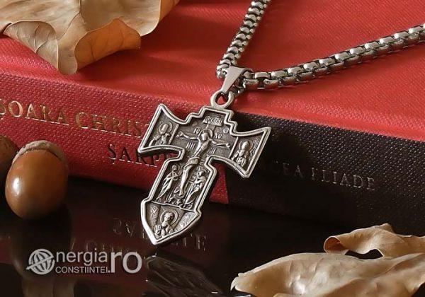 Pandant-Amuleta-Talisman-Medalion-Colier-Pandantiv-Cruciulita-Cruce-Crucifix-Iisus-INOX-PND186-04