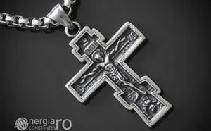 Amuleta-Talisman-Medalion-Colier-Pandant-Pandantiv-Cruce-Cruciulita-Crucifix-Iisus-Cristos-Christos-Hristos-INOX-PND187-00