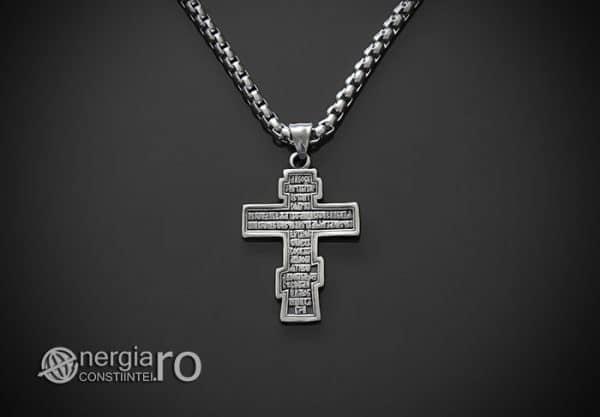 Amuleta-Talisman-Medalion-Colier-Pandant-Pandantiv-Cruce-Cruciulita-Crucifix-Iisus-Cristos-Christos-Hristos-INOX-PND187-02