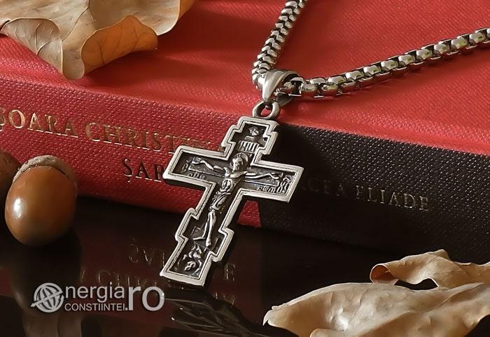Amuleta-Talisman-Medalion-Colier-Pandant-Pandantiv-Cruce-Cruciulita-Crucifix-Iisus-Cristos-Christos-Hristos-INOX-PND187-04