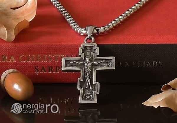 Amuleta-Talisman-Medalion-Colier-Pandant-Pandantiv-Cruce-Cruciulita-Crucifix-Iisus-Cristos-Christos-Hristos-INOX-PND187-06