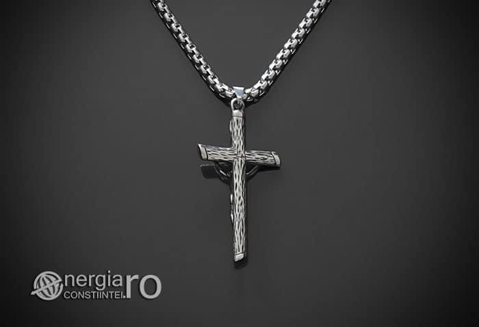 Amuleta-Talisman-Medalion-Colier-Pandant-Pandantiv-Cruce-Cruciulita-Crucifix-Iisus-Cristos-Christos-Hristos-INOX-PND188-02