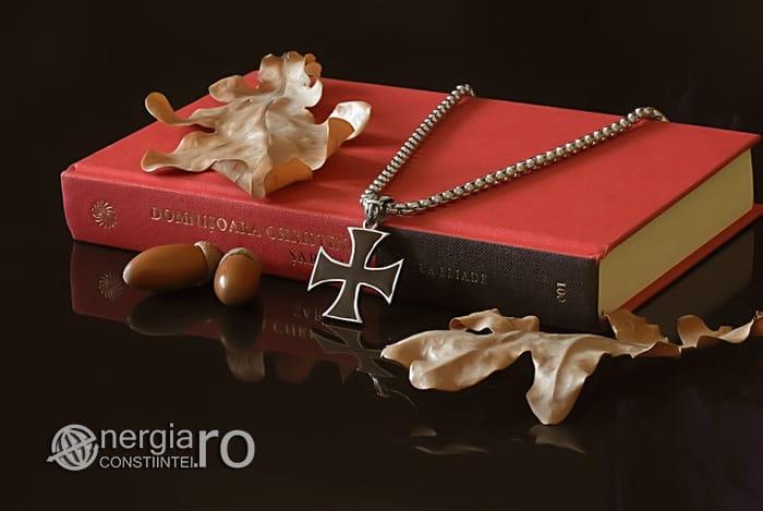 Amuleta-Talisman-Medalion-Colier-Pandant-Pandantiv-Cruciulita-Cruce-Crucea-Malteza-De-Fier-INOX-PND073-03