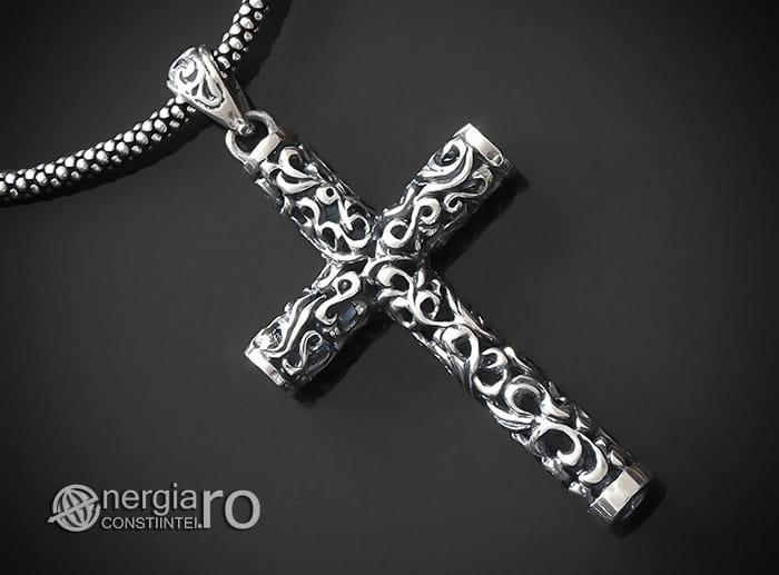 Amuleta-Talisman-Medalion-Colier-Pandant-Pandantiv-Cruciulita-Cruce-Crucifix-Argint-925-PND905-00