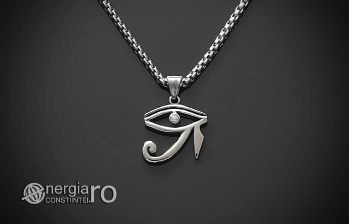 Amuleta-Talisman-Medalion-Colier-Pandant-Pandantiv-Ochiul-Ra-Horus-INOX-ZIRCON-PND225-01