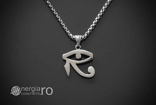 Amuleta-Talisman-Medalion-Colier-Pandant-Pandantiv-Ochiul-Ra-Horus-INOX-ZIRCON-PND225-02