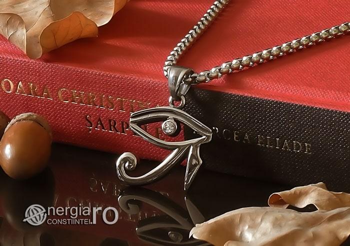 Amuleta-Talisman-Medalion-Colier-Pandant-Pandantiv-Ochiul-Ra-Horus-INOX-ZIRCON-PND225-04