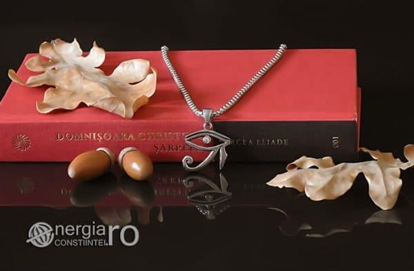 Amuleta-Talisman-Medalion-Colier-Pandant-Pandantiv-Ochiul-Ra-Horus-INOX-ZIRCON-PND225-05