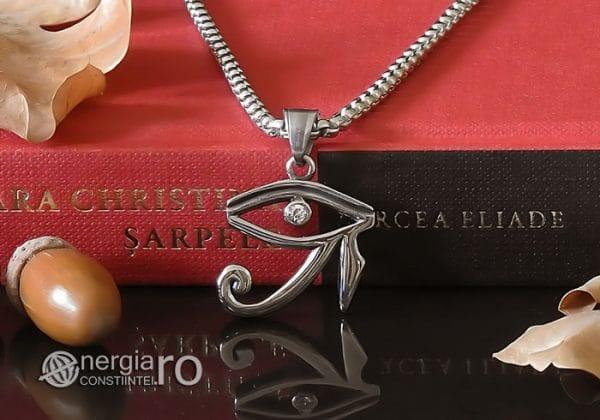 Amuleta-Talisman-Medalion-Colier-Pandant-Pandantiv-Ochiul-Ra-Horus-INOX-ZIRCON-PND225-06