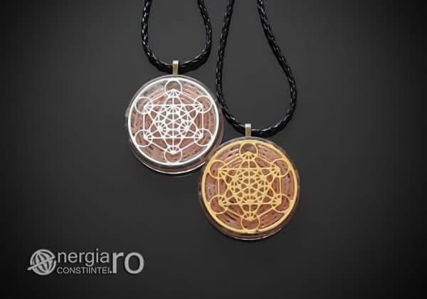 Amuleta-Talisman-Medalion-Colier-Pandant-Pandantiv-Orgon-Orgonic-Cubul-Lui-Metatron-Cristale-Cuart-Roz-ORG011-01